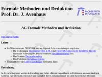 AG Formale Methoden und Deduktion des Fachbereiches Informatik der Universität Kaiserslautern