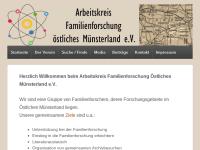 Arbeitskreis Familienforschung Ahlen und Umgebung e.V.