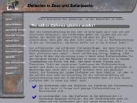 Elefanten in Zoos und Safaripark