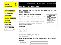 Amnesty International, Bezirk Rhein-Neckar