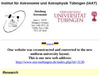 Institut für Astronomie und Astrophysik der Universität