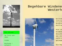 Begehbare Windenergieanlage Westerholt
