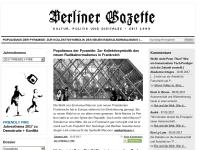 Berliner Gazette - Das digitale Mini Feuilleton