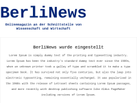 BerliNews - Onlinemagazin