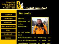 Mobil zum Ziel, Schulung in Orientierung und Mobilität