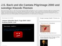 J.S. Bach und die Cantata Pilgrimage 2000