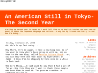 An American Still in Tokyo -The Second Year