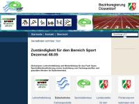 Bezirksregierung Düsseldorf, Dezernat 48 / Sport