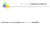 C-t-p Management - Sepp Bürge