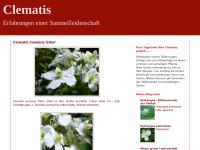 Clematis - Erfahrungen einer Sammelleidenschaft