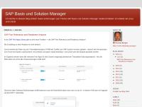 Blog: SAP Basis und Solution Manager