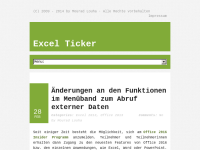 Excel Ticker