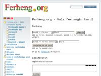 Ferheng.org - Heimat kurdischer Wörterbücher
