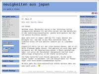 Neuigkeiten aus Japan [Gunda Niedermeyer & Thomas Lottermoser]