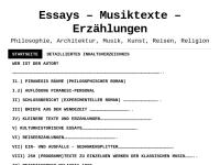 Essays-Gedanken-Erzählungen