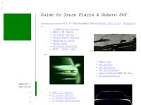 Guide to Isuzu Piazza and Subaru SVX
