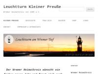"""Leuchtturm Wremen - der """"Kleine Preuße"""""""