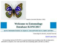 昆虫学データベース KONCHU