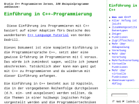 Einführung in C++-Programmierung