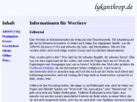Lykanthrop - Informationen für Wertiere