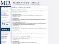 Medien Internet und Recht