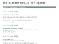 mod_blosxom Module for Apache