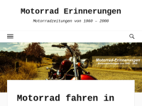 Motorrad Erinnerungen