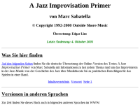A Jazz Improvisation Primer