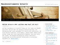 Musikinstrumente Gitarre Blog, Andreas Kraus