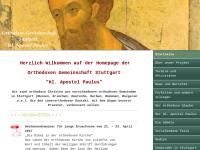 Orthodoxe Gemeinschaft Stuttgart Hl. Apostel Paulus