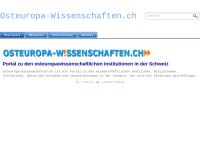 Osteuropa-Wissenschaften.ch