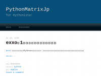 PythonMatrixJp