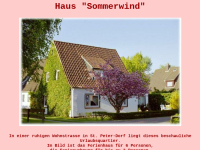 """Haus """"Sommerwind"""""""