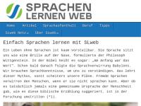 Sprachen lernen im Web
