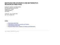 Institut für Statistik