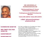 Rechtsanwalt Helmut P. Krause - Die universelle Normenhierarchie