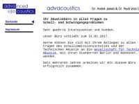 Advacoustics - Dr. André Jakob & Dr. Rudi Volz GbR