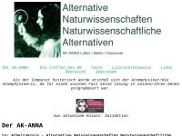 Arbeitskreis - Alternative Naturwissenschaften Naturwissenschaftliche Alternativen (ANNA)