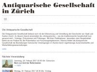 Antiquarische Gesellschaft in Zürich (AGZ)