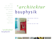 architektur + bauphysik