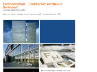 FH Dortmund, Fachbereich Architektur