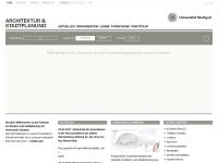 Fakultät Architektur und Stadtplanung an der Universität Stuttgart