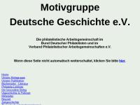 Motivgruppe Deutsche Geschichte, philatelistische Arbeitsgemeinschaft im Bund deutscher Philatelisten