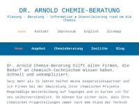 Chemie Beratung Dr. Claudia Arnold