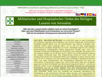 Nicht offizielle Webseite über den Lazarus-Orden mit Informationen zur Ordensheraldik