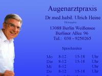 Dr. med. habil. Ulrich Heine Augenarzt