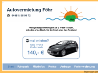 Autovermietung Föhr