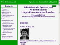 Romanistik, Sprachwissenschaft und Mediävistik [Job, Priv.-Doz. Dr. Barbara]