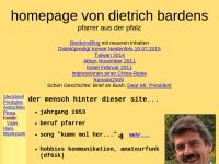 Predigten von Pfarrer Dietrich Bardens