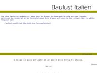 Baulust Italien